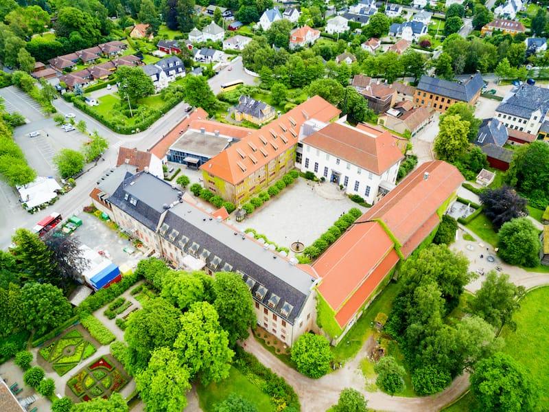 Aerial shot of Bygdoy Oslo
