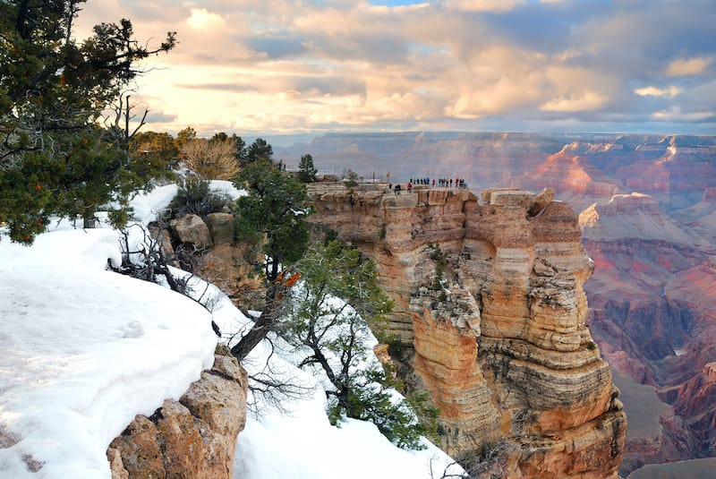 Grand Canyon National Park in Arizona in Winter
