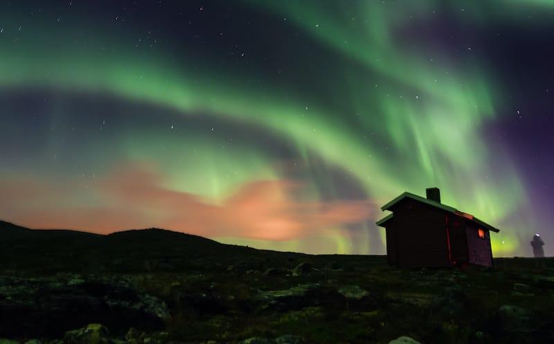 Hammerfest winter Northern lights norway