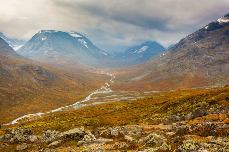 Jotunheimen Norway during autumn