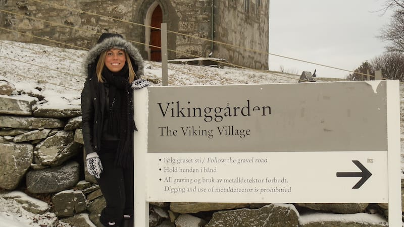 Vikinggården on Bukkøy Karmøy Norway in winter