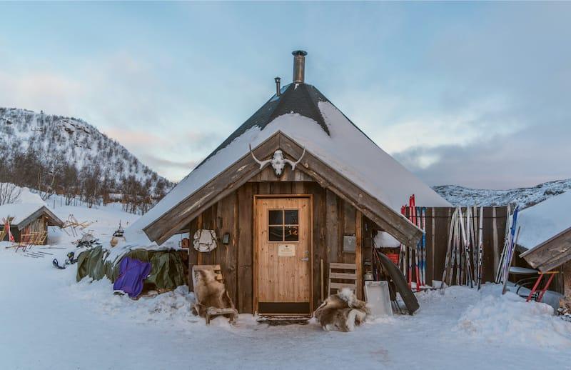 Kirkenes in winter in Norway