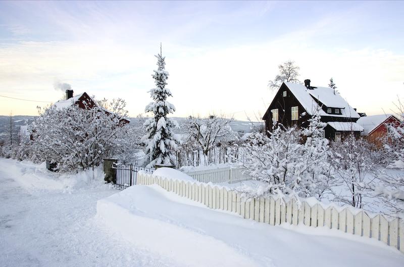 Lillehammer in winter in Norway