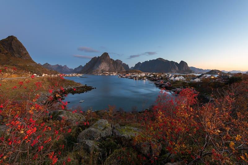 Lofoten islands autumn (Reine)