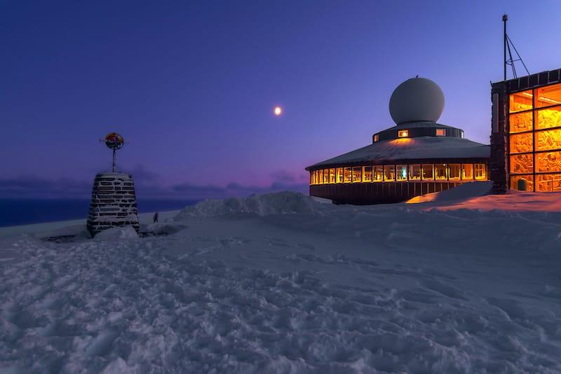 Nordkapp in winter in Norway