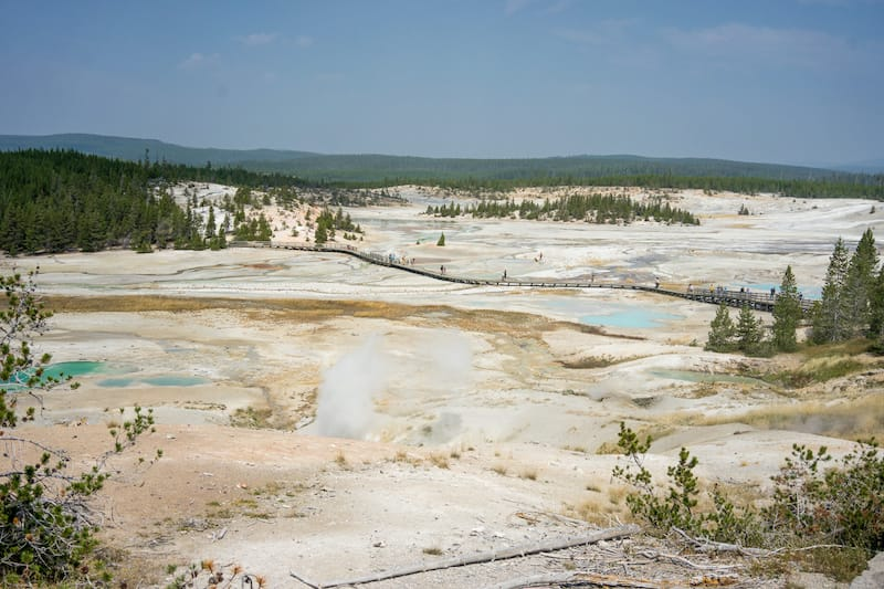 Norris Geyser Basin at Yellowstone