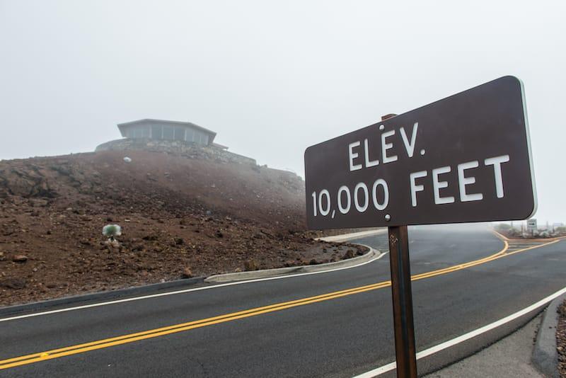 On top of Haleakala Volcano National Park in Maui Hawaii