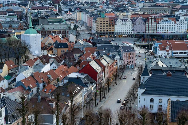 Overlook of Bergen Norway