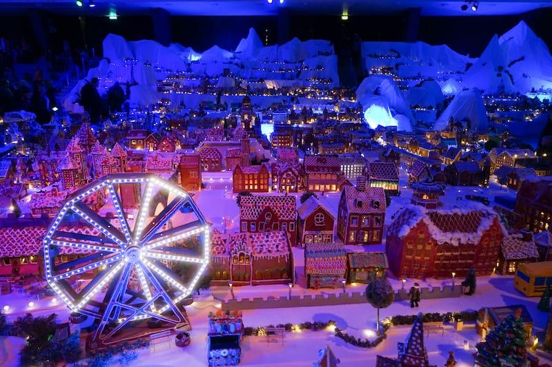 Pepperkakebyen in Bergen Norway at Christmas