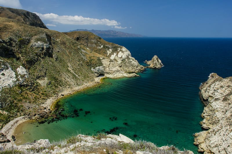 Potato Harbor on Santa Cruz in Channel Islands California: Hiking Channel Islands National Park