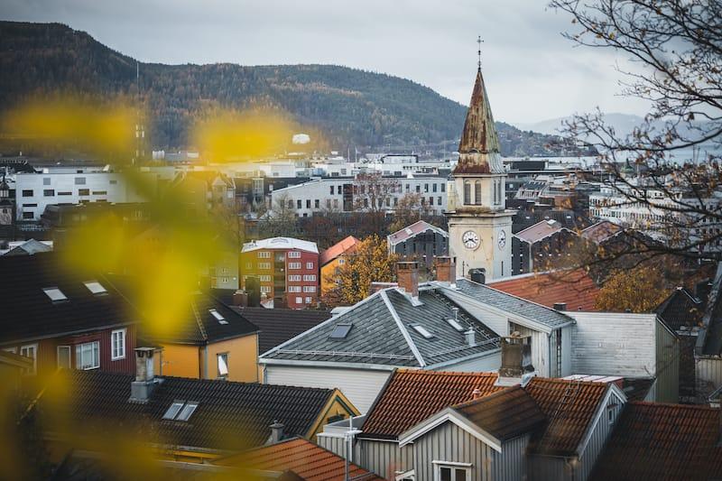 Trondheim during autumn
