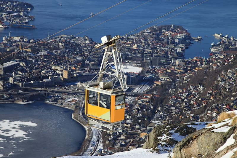Ulriken Cable Car Bergen Norway