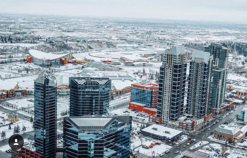 View of Saddledome from Calgary Tower