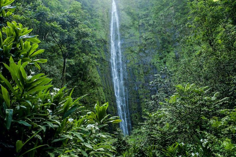 Waimoku Falls on Maui near Haleakala National Park