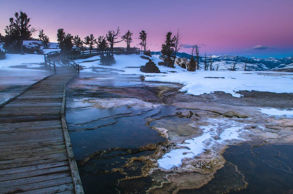 Yellowstone National Park winter Wyoming