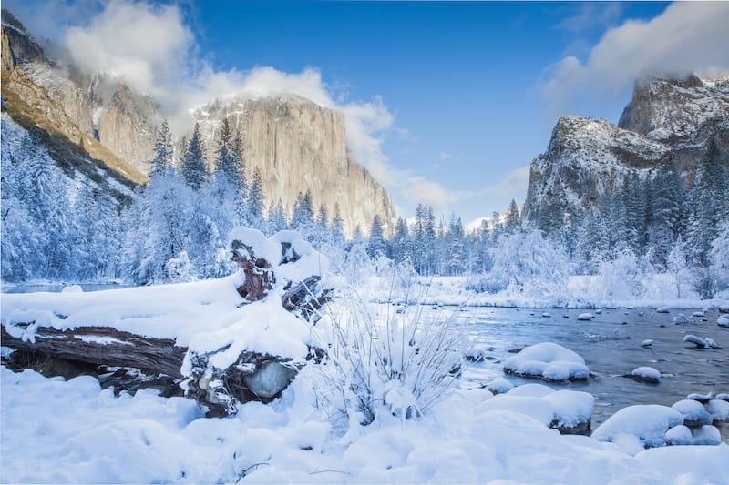 Yosemite National Park in Winter in California