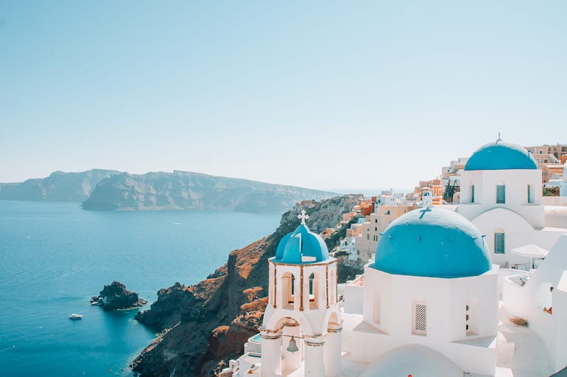 Blue domes are a must-see on a Santorini itinerary