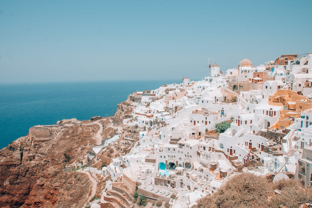 View from Oia Castle in Santorini