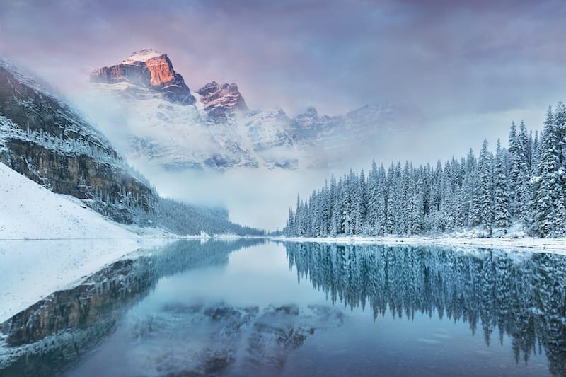winter and snow in Banff