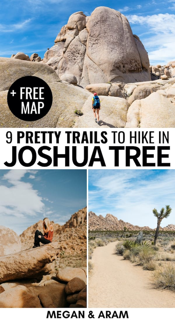 If you're looking for the best hikes in Joshua Tree National Park, this guide has you covered. These are the 9 best Joshua Tree trails for all levels of hikers! Visit California national parks | Places to visit in California | California hikes | Joshua Tree hiking | Joshua Tree Views | Things to do in Joshua Tree | Mojave Desert | Colorado Desert | Trails in Joshua Tree | Hiking in Joshua Tree | Joshua Tree hiking trails