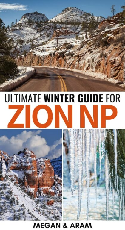 Are you planning a trip to Zion National Park in winter? This Zion winter guide will give you tips for things to do, what to pack, best hike, and much more! | Zion in winter | winter in Zion | Utah in winter | Utah national parks | Zion hiking | Zion hiking in winter | Winter hikes in Zion | Angel's Landing Zion | The Narrows Zion | Things to do in Utah | Places to visit in Utah | USA National Parks | Zion hikes | Zion photography | Zion winter hikes | Utah winter trips