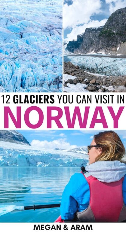 There are so many glaciers in Norway and they will each blow your mind for different reasons! These are some of the best Norway glaciers that you can visit. | Things to do in Norway | Glaciers Norway | Arctic Norway | Places to visit in Scandinavia | Places to visit in Norway | Jostedalsbreen | Svalbard glaciers | Places to visit in Svalbard | Things to do in Svalbard | Austefonna | Svartisen | Hardangerjøkulen | Folgefonna