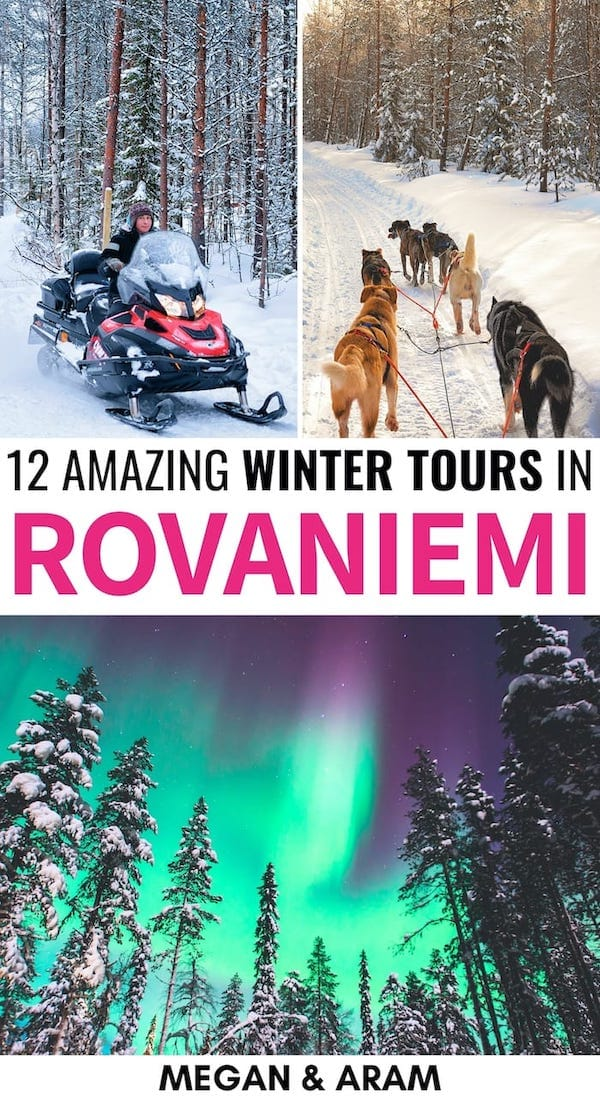 Are you on a hunt for the best Rovaniemi tours to make your trip epic? This guide details top-rated Lapland tours from northern lights excursions to dog sledding. | Rovaniemi tours | Tours in Lapland | Lapland excursions | Lapland activities | Rovaniemi excursions | Things to do in Lapland | Things to do in Rovaniemi | Tours in Rovaniemi | Tours in Lapland | Finland winter | Rovaniemi winter | Lapland winter | Northern lights Finland | Dog sledding Finland