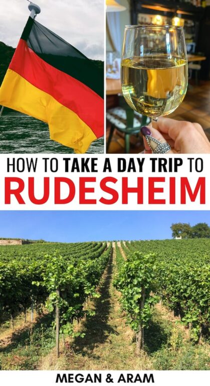 Are you planning a trip to the Rheingau and are looking for the best things to do in Rudesheim? This travel guide tells you what to do, where to eat, and more! | What to do in Rudesheim | Rudesheim am Rhein | Rudesheimer Kaffee | Germany wine | Rhine Valley | Visit Rudesheim | Travel to Rudesheim | Frankfurt day trips | Places to visit in Germany | Rudesheim Germany