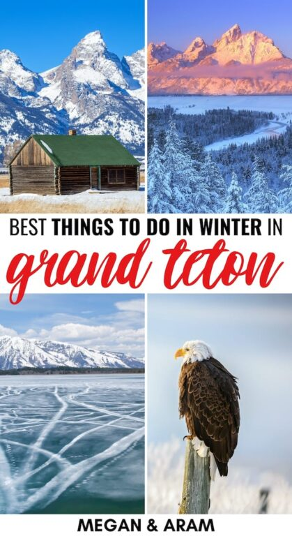 Grand Teton National Park in Winter: Reasons to Visit, Things to Do, & Tips | Are you planning a trip to Grand Teton in winter? This guide details what to do in winter in Grand Teton National Park, including where to stay and more! | Things to do in Grand Teton | Wyoming winter | Visit Grand Teton | US National Parks | Grand Teton in December | Grand Teton in January | Grand Teton in February | Grand Teton snow | Grand Teton wildlife | Things to do in Wyoming | National Parks to Visit in winter