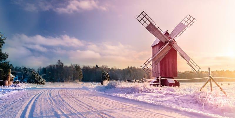 Åland in winter