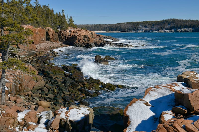 Acadia in winter