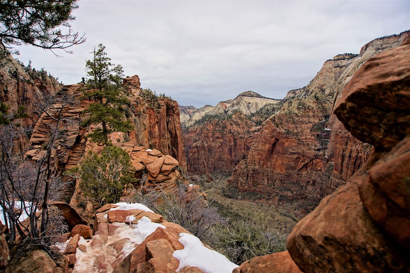 Angel's Landing Trail during winter in Zion