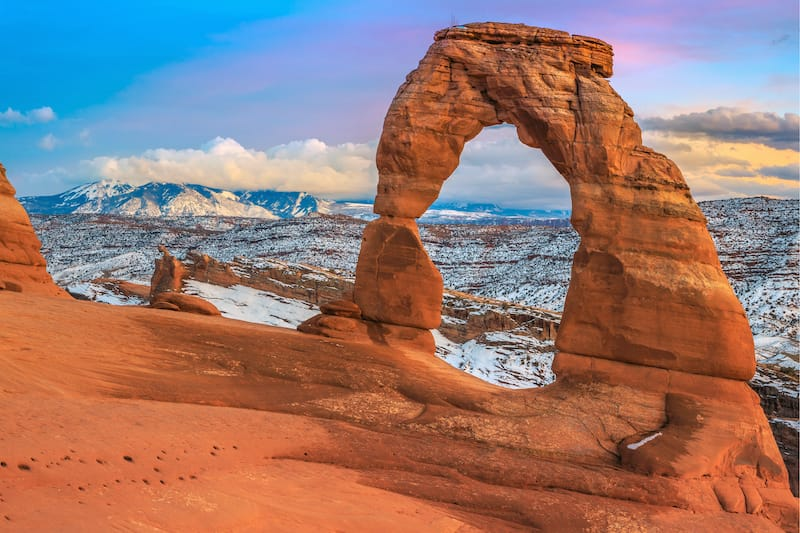 Arches in winter