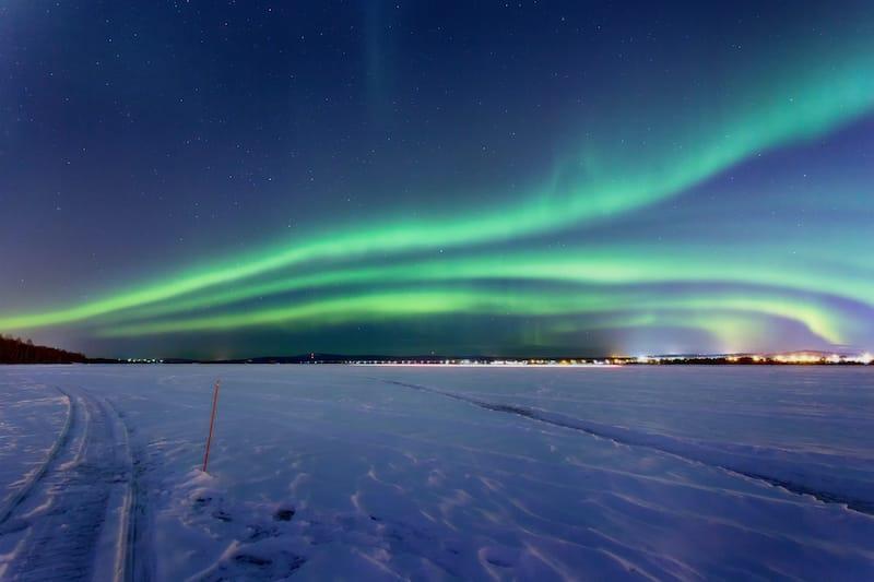 Aurora in Rovaniemi Finland