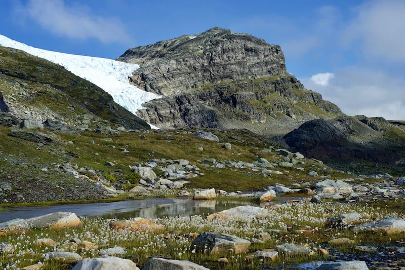 Hardangervidda Glacier in autumn Hardangerjøkulen