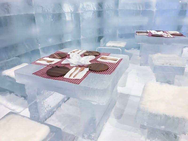 Ice restaurant in Rovaniemi Finland