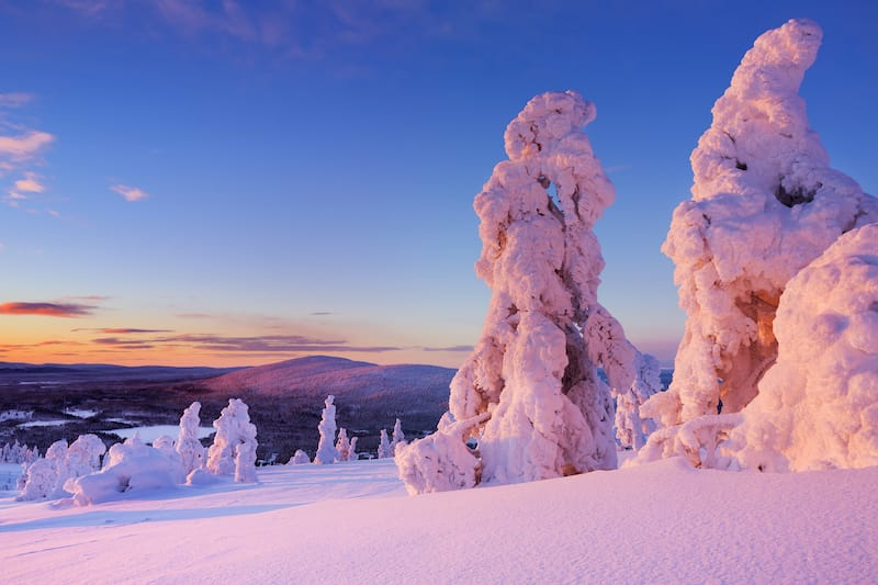 Levi Finland during winter