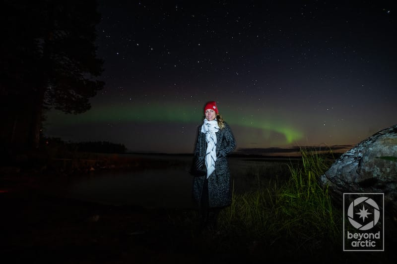 Megan northern lights finland
