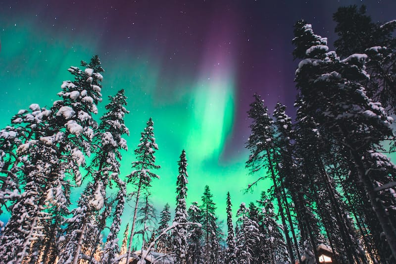 Northern lights over Lapland