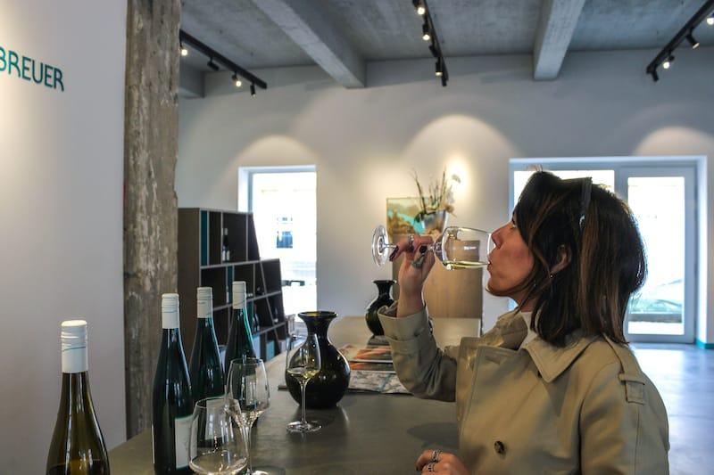Georg Breuer winery tasting of dry rieslings