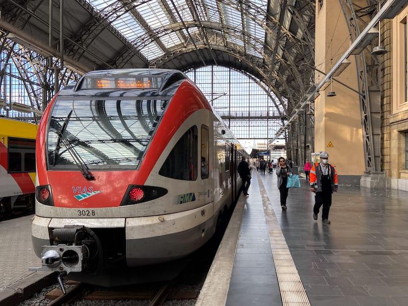 Train from Frankfurt to Rudesheim