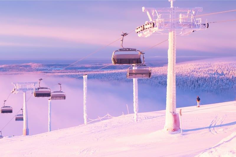 Ruka Kuusamo skiing Finland
