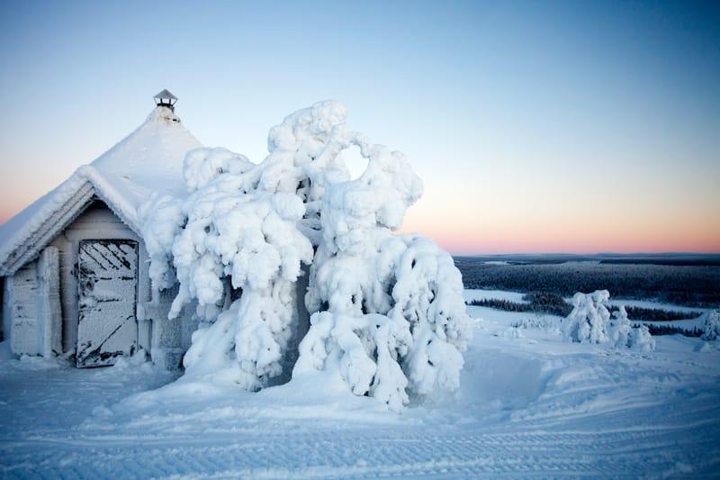 Salla Finland in snow