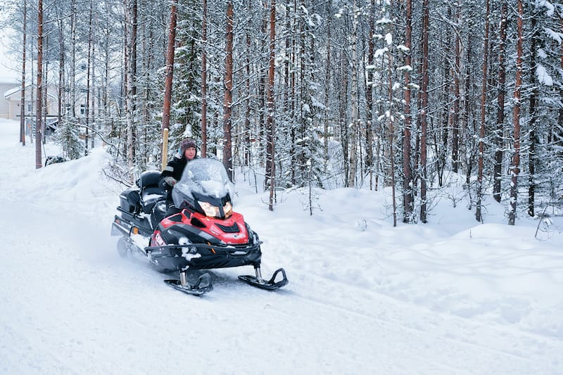 Snowmobiling in Lapland Finland