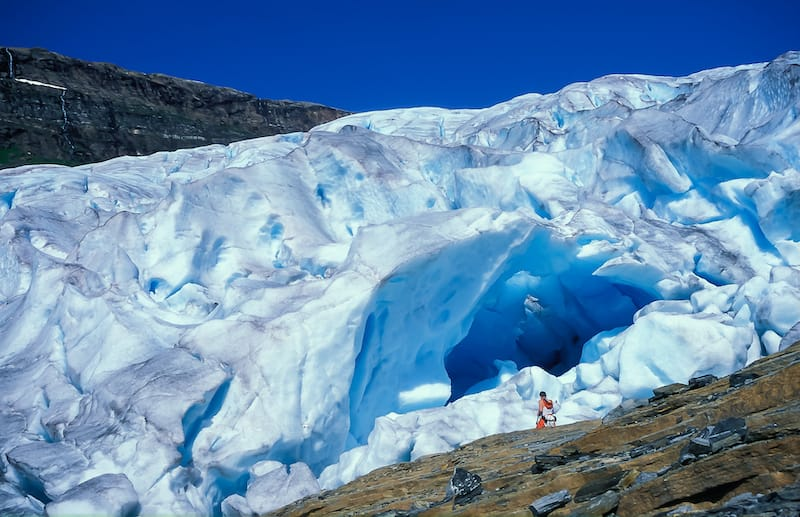 Svartisen glacier in northern Norway
