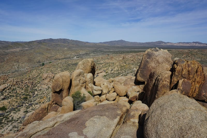 View from Mastodon Peak in Joshua Tree National Park