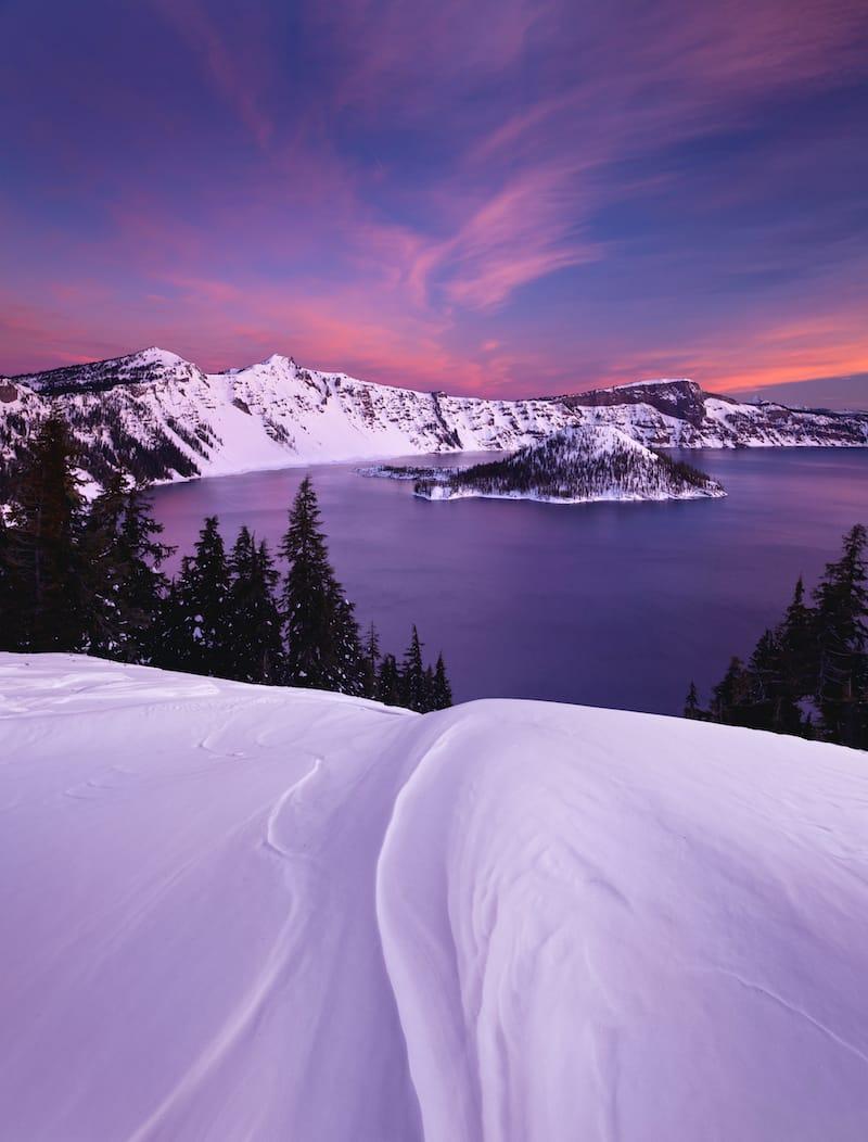 Winter at Crater Lake NP