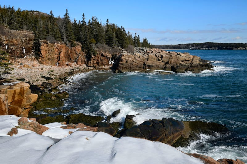 Winter in Acadia National Park