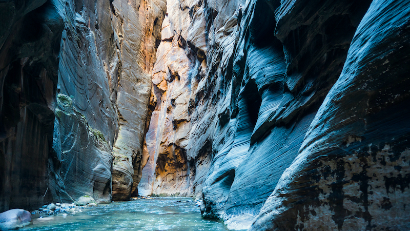 Zion National Park in winter - The Narrows