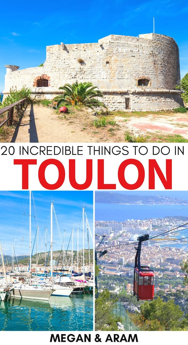 Are you planning a trip to Toulon and are on the hunt for the best things to do in Toulon, France? This guide discusses popular attractions, activities, and more! | What to do in Toulon | Places to visit in France | Toulon plage | Toulon beaches | Toulon restaurants | Toulon attractions | Toulon landmarks | Mont Faron | Toulon france photography | Places to visit in Provence | Things to do in Provence
